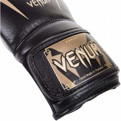 Боксерские Перчатки Venum Giant 3.0 Nappa Чёрные/Золото (01878) фото 3