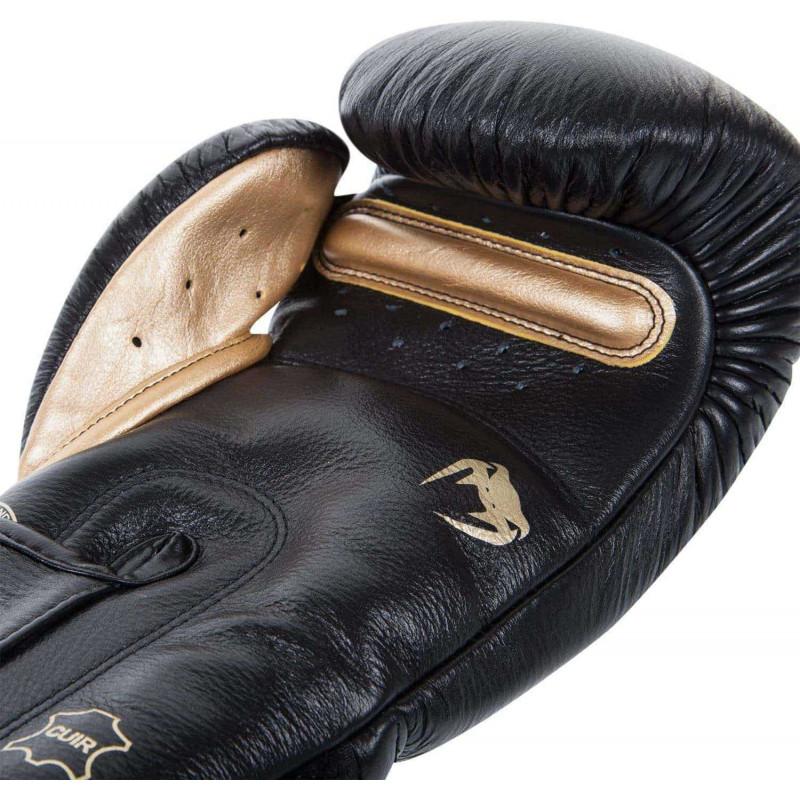Боксерские Перчатки Venum Giant 3.0 Nappa Чёрные/Золото (01878) фото 4