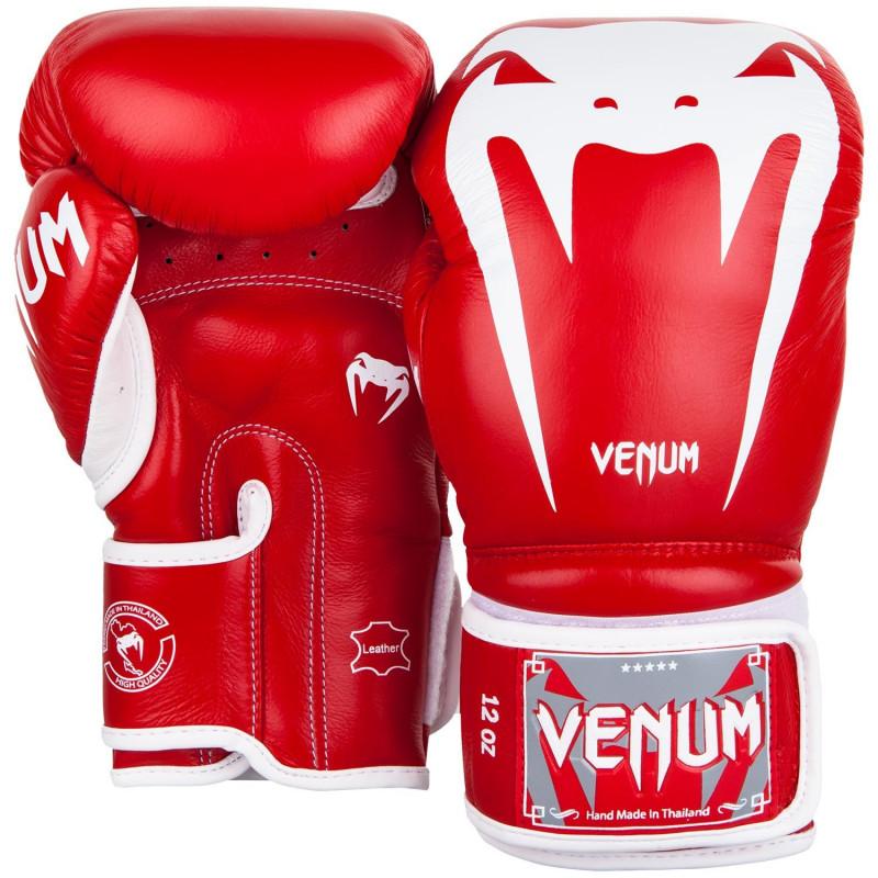 Боксерские перчатки Venum Giant 3.0 Nappa Красные (01848) фото 2