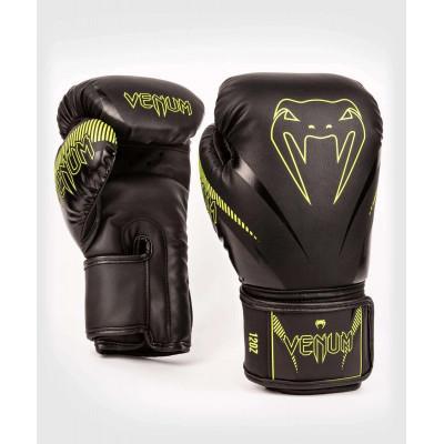 Перчатки Venum Impact Boxing Gloves Black/Neo (02067) фото 1
