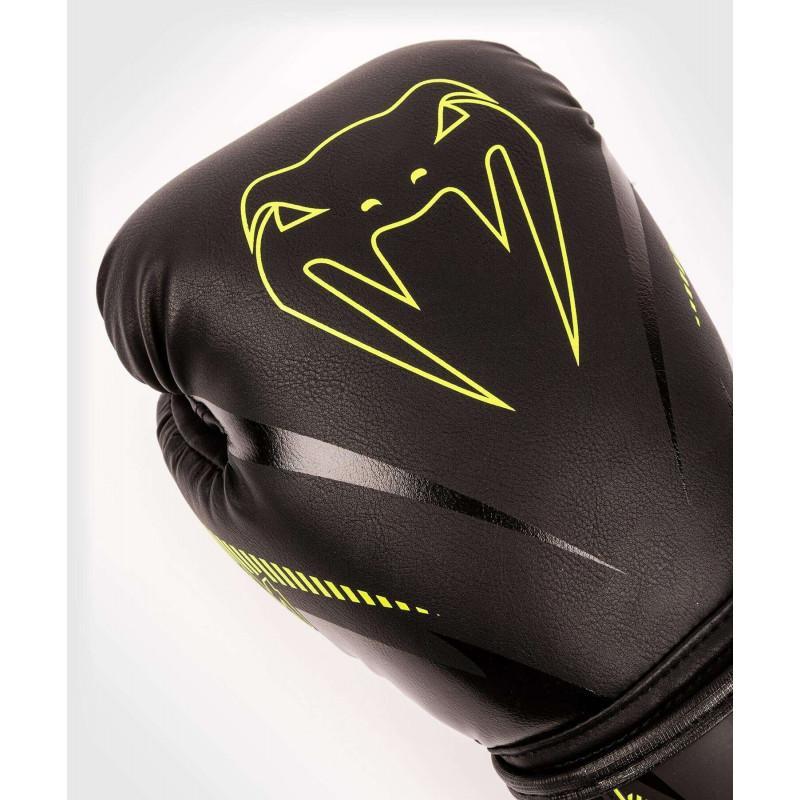 Перчатки Venum Impact Boxing Gloves Black/Neo (02067) фото 5