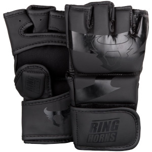 Перчатки Ringhorns Charger MMA Gloves Black/Black