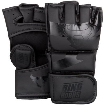 Перчатки Ringhorns Charger MMA Gloves Black/Black (01681) фото 1