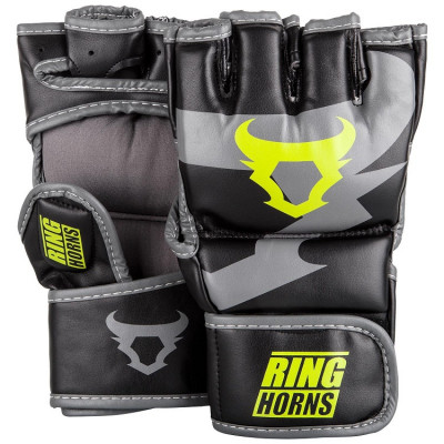 Перчатки Ringhorns Charger MMA Gloves Black/Neo/Yelow (01682)