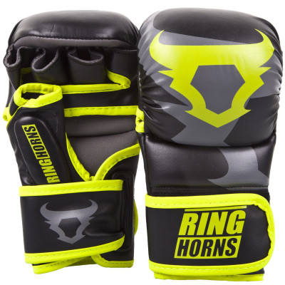 Перчатки Ringhorns Charger Sparring Gloves Black/Neo/Yelow (01686) фото 1