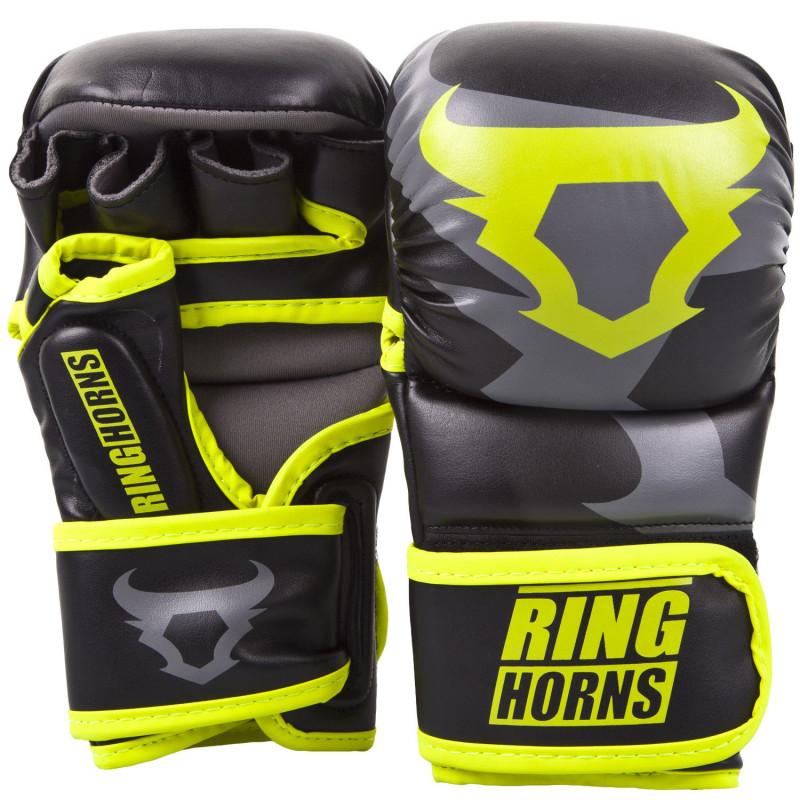Рукавиці Ringhorns Charger Sparring Gloves Black/Neo/Yelow (01686) фото 1