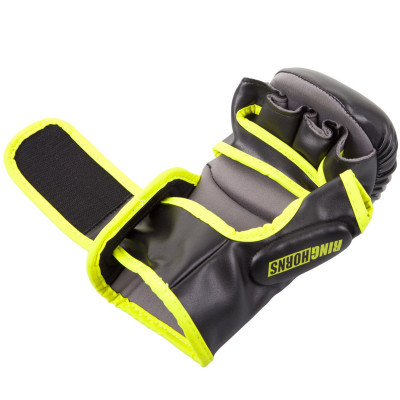 Перчатки Ringhorns Charger Sparring Gloves Black/Neo/Yelow (01686) фото 4