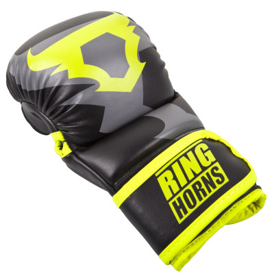 Перчатки Ringhorns Charger Sparring Gloves Black/Neo/Yelow (01686) фото 5
