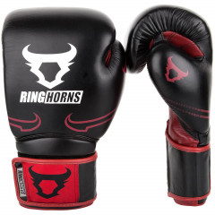 Перчатки Ringhorns Destroyer Boxing Gloves Black/Red