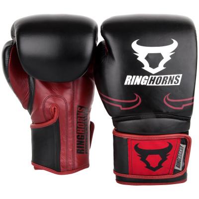 Перчатки Ringhorns Destroyer Boxing Gloves Black/Red (01688) фото 2