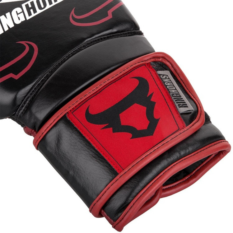 Перчатки Ringhorns Destroyer Boxing Gloves Black/Red (01688) фото 3