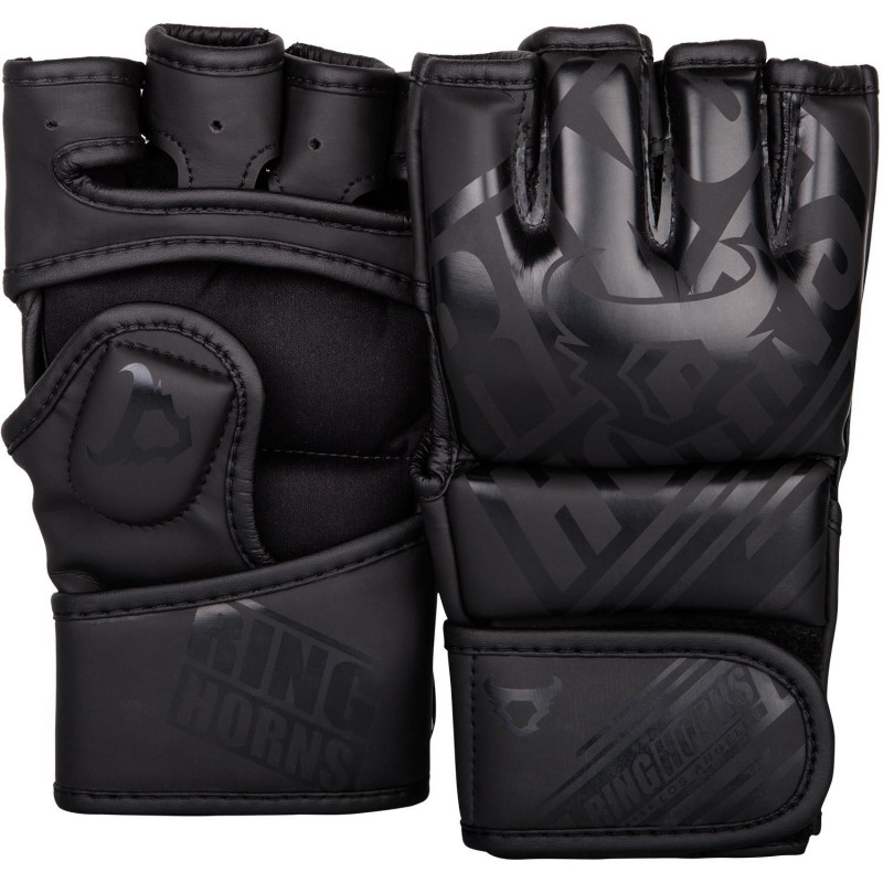 Перчатки Ringhorns Nitro MMA Gloves Black/Black (01693) фото 1