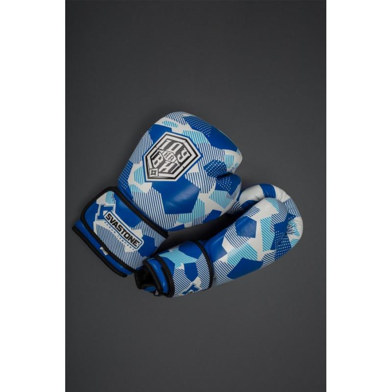 Боксерські рукавиціSVA STONE Іду на ВИ Сині (01629) фото 2
