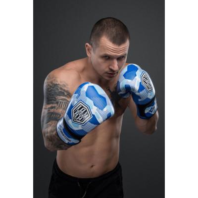 Боксерські рукавиціSVA STONE Іду на ВИ Сині (01629) фото 4