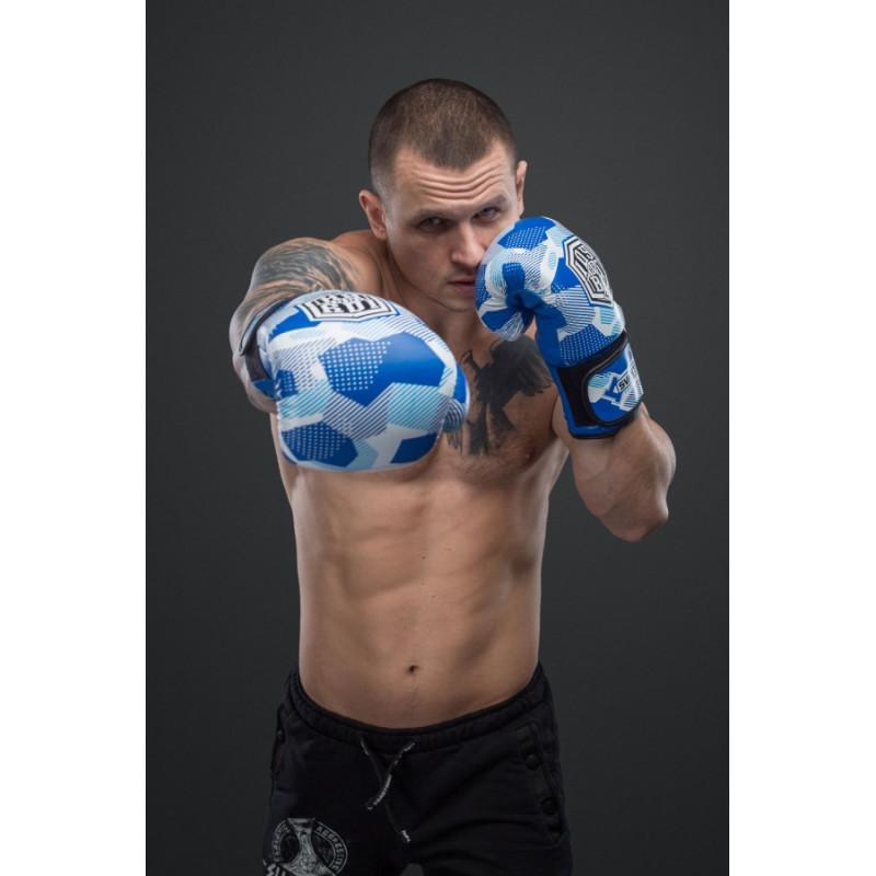 Боксерські рукавиціSVA STONE Іду на ВИ Сині (01629) фото 6