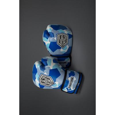 Боксёрские перчатки SVA STONE ІДУ на ВИ BLUE (01629)