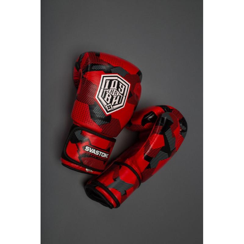 Боксерські рукавиці SVA STONE Іду на ВИ Красные (01628) фото 5