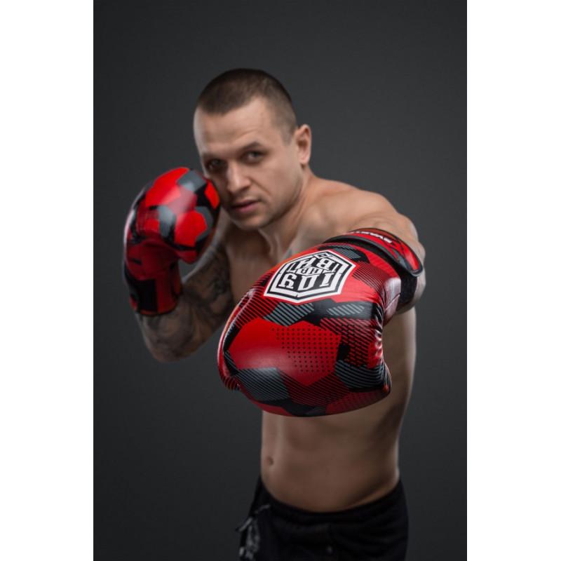 Боксерські рукавиці SVA STONE Іду на ВИ Красные (01628) фото 4