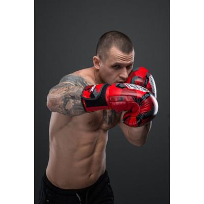 Боксерські рукавиці SVA STONE Іду на ВИ Красные (01628) фото 3