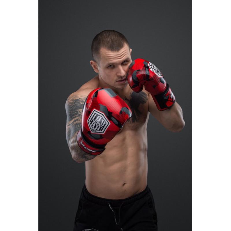 Боксерські рукавиці SVA STONE Іду на ВИ Красные (01628) фото 2