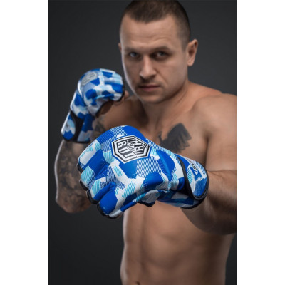 Перчатки для ММА SVA STONE ІДУ на ВИ BLUE (01630) фото 2