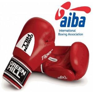 Боксёрские перчатки Green Hill TIGER AIBA Red