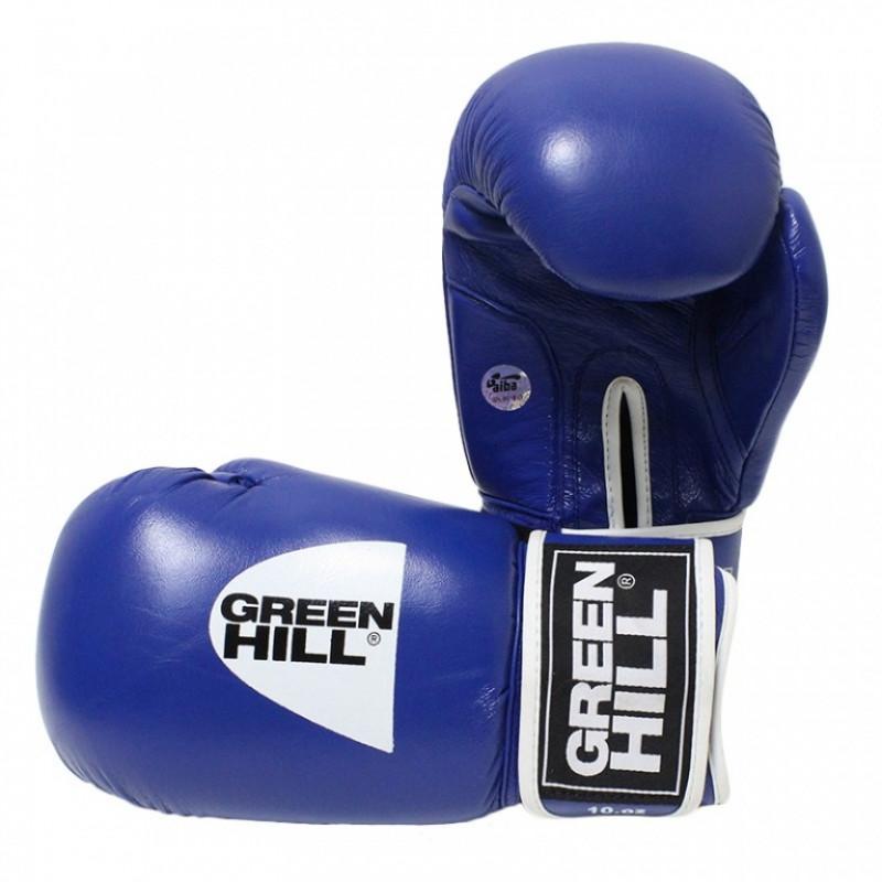 Боксёрские перчатки Green Hill TIGER AIBA Blue (01533) фото 1