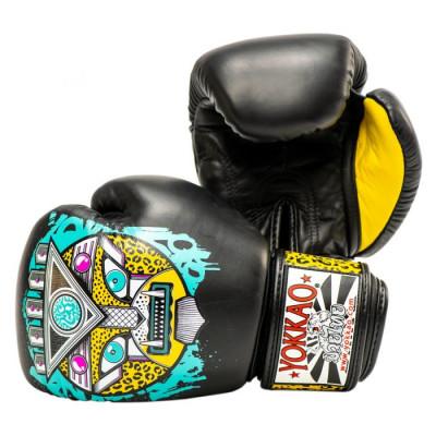 Боксёрские перчатки YOKKAO Apex Leopard Muay Thai  black (01641) фото 2