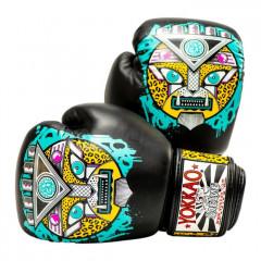 Боксёрские перчатки YOKKAO Apex Leopard Muay Thai  black