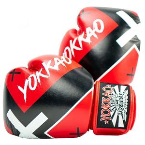 Боксёрские перчатки YOKKAO Vertigo X red