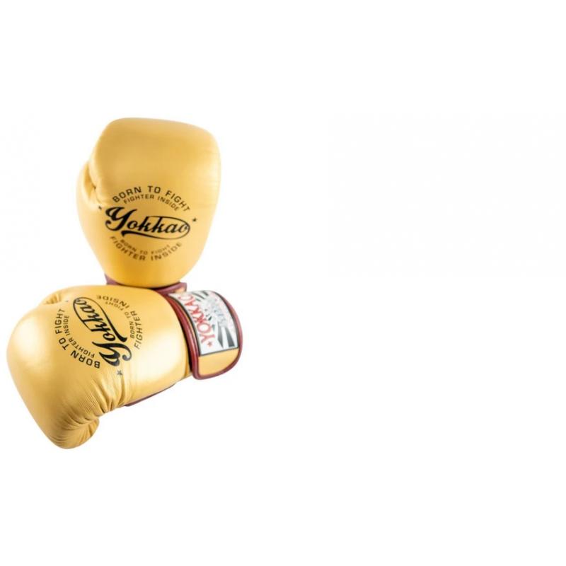 Боксёрские перчатки YOKKAO Vintage gloves gold (01766) фото 4