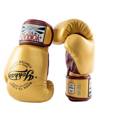 Боксёрские перчатки YOKKAO Vintage gloves gold (01766) фото 5
