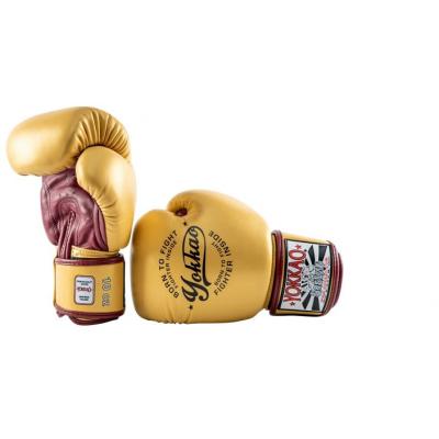 Боксёрские перчатки YOKKAO Vintage gloves gold (01766) фото 6