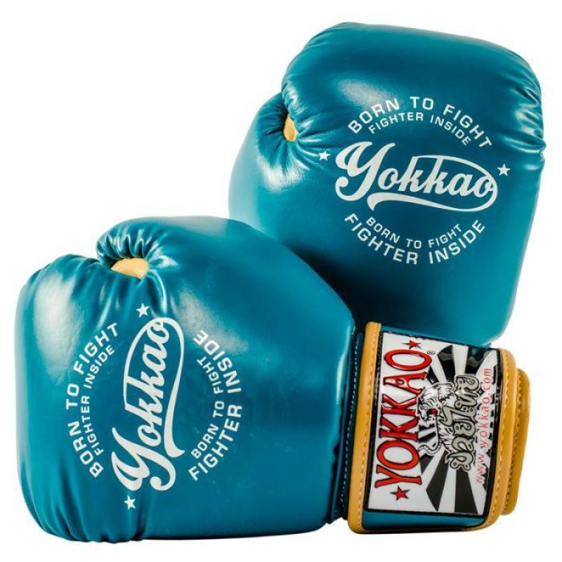 Боксёрские перчатки YOKKAO Vintage gloves blue (01764) фото 1