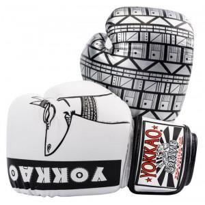 Боксёрские перчатки YOKKAO Anubis Gloves white