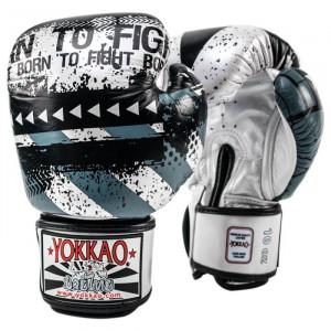 Боксёрские перчатки YOKKAO Hustle silver/black
