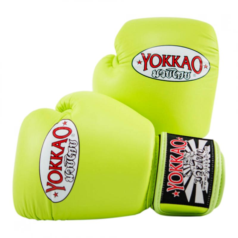 Боксёрские перчатки YOKKAO Matrix Gloves lime (01767) фото 1