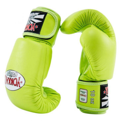 Боксёрские перчатки YOKKAO Matrix Gloves lime (01767) фото 3