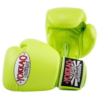 Боксёрские перчатки YOKKAO Matrix Gloves lime (01767) фото 2