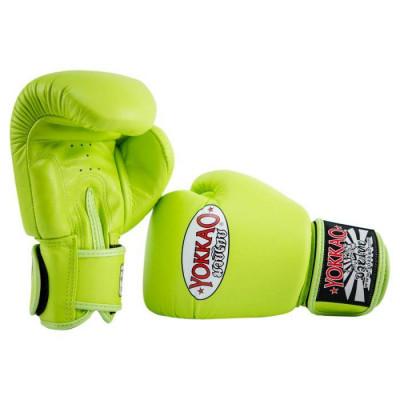 Боксёрские перчатки YOKKAO Matrix Gloves lime (01767) фото 4