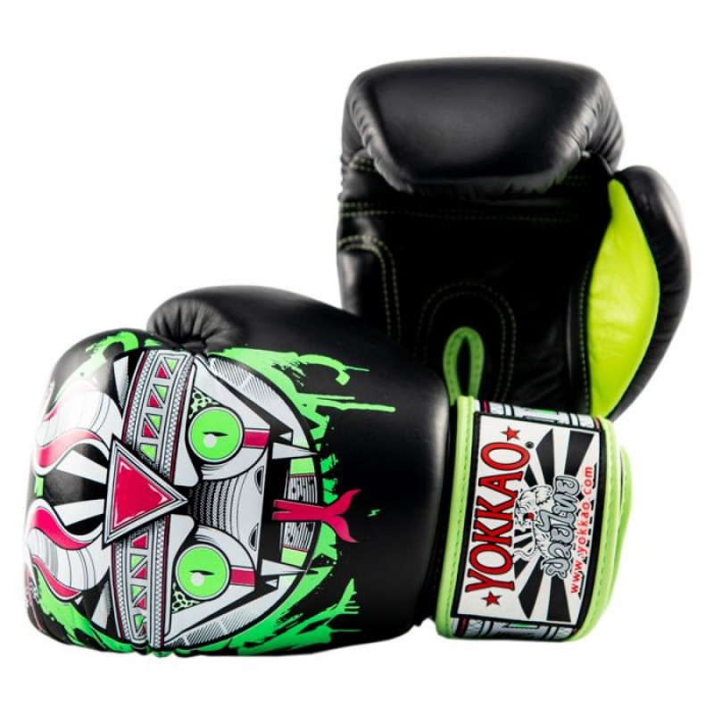 Боксёрские перчатки YOKKAO Apex Snake Muay Thai black (01643) фото 3
