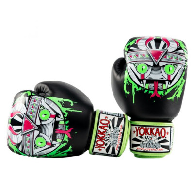 Боксёрские перчатки YOKKAO Apex Snake Muay Thai black (01643) фото 6