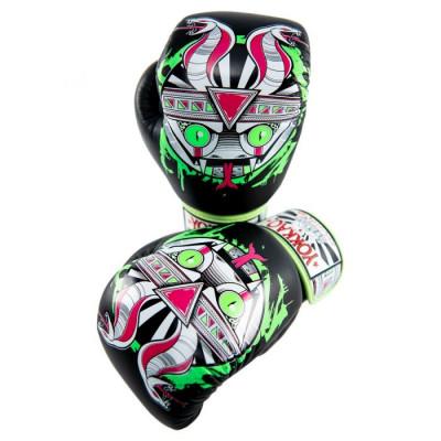 Боксёрские перчатки YOKKAO Apex Snake Muay Thai black (01643) фото 5