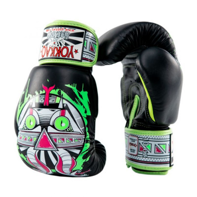 Боксёрские перчатки YOKKAO Apex Snake Muay Thai black (01643) фото 4