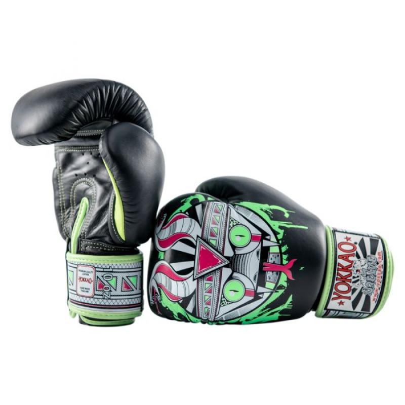 Боксёрские перчатки YOKKAO Apex Snake Muay Thai black (01643) фото 2