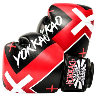 Боксёрские перчатки YOKKAO Vertigo X Muay Thai black (01647)