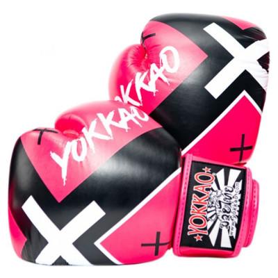 Боксёрские перчатки YOKKAO Vertigo X Muay Thai pink (01649)