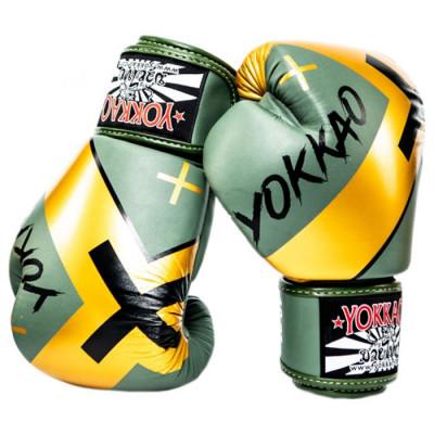 Боксёрские перчатки YOKKAO Vertigo X Muay Thai green (01650) фото 2
