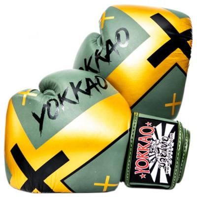 Боксёрские перчатки YOKKAO Vertigo X Muay Thai green (01650) фото 1