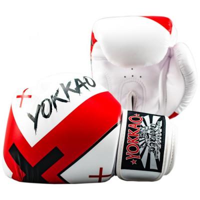 Боксёрские перчатки YOKKAO Vertigo X Muay Thai white (01648) фото 2